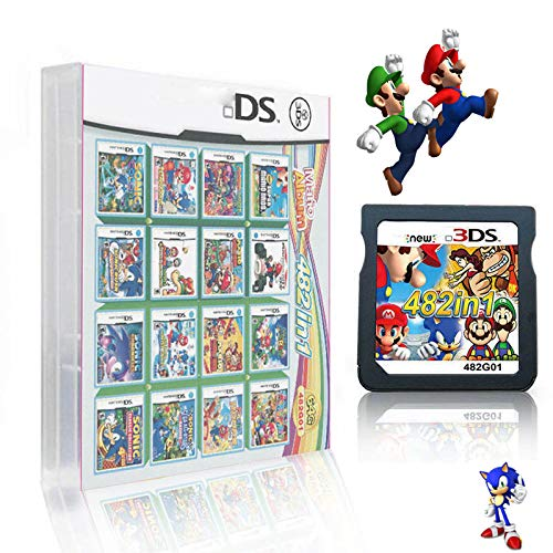 482 in 1 Game Cartridge DS Game Pack Card Compilations Super Combo Multicart for Nintendo DS NDSL NDSi NDSi LL/XL 3DS 3DSLL/XL New 3DS New 3DS LL/XL 2DS New 2DS LL/XL