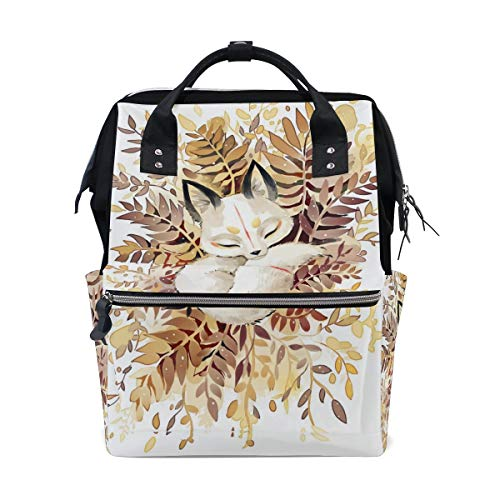 FHTDH Diaper Bags Backpacks Mummy Backpack with Map Northern Exposure Travel Laptop Daypack