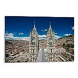 YYCYY Quito Ecuador Poster, dekoratives Gemälde, Leinwand,