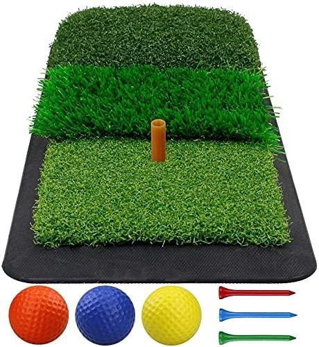 TASJS Golf Matting Mini Fairway Matting Hierba Mat Training Ayuds para la práctica Interior/Exterior de la práctica de césped de Goma Antideslizante (Color : Silver)