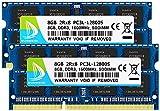 DUOMEIQI 16GB (2 x 8GB) Kit DDR3 / DDR3L 1600MHz SODIMM RAM PC3 / PC3L 12800S 2Rx8 1.35V /1.5V CL11 204 Pines RAM sin ECC para computadora portátil sin búfer
