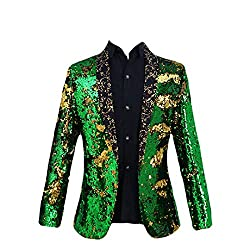 Green Sequins Jacket Blazer