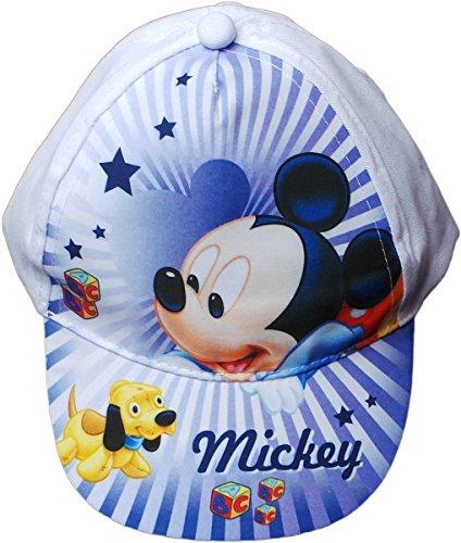 Disney Micky Maus Cap - Spiel mit Mickeys Hund - Weiß/Blau/Mehrfarbig