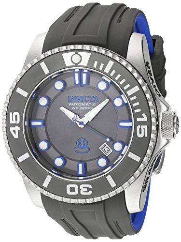 Invicta 20200 Men's Grand Diver Charcoal Dial Charcoal & Blue Silicone Strap Automatic Dive Watch