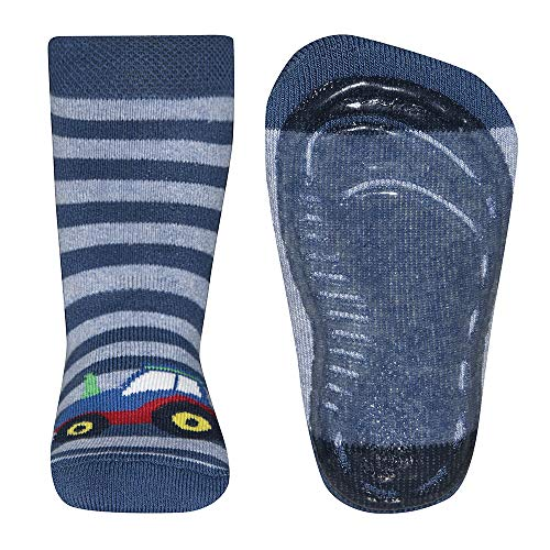 Ewers Chaussettes antidérapantes Softstep rayures tracteur chaussettes bébé chaussettes hautes, bleu