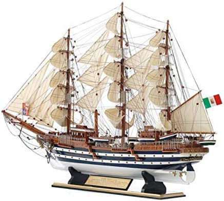 ZXDFG Statues Wood Sailboat Model Crafts At the price Rare Handmade Bedr Ornaments