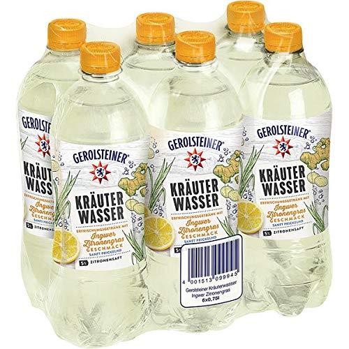 12 Flaschen Gerolsteiner Kräuterwasser Ingwer Zitronengras PET inc. 3,00€ EINWEG Flasche