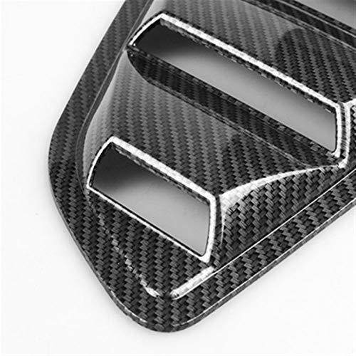 Louvers laterales Tuyere Louvers de ventilación para ventanilla trasera, alerón de coche, panel lateral de ventilación para Ford Mustang 2015 2016 2017 2018 2019 2020 (color: fibra copia)