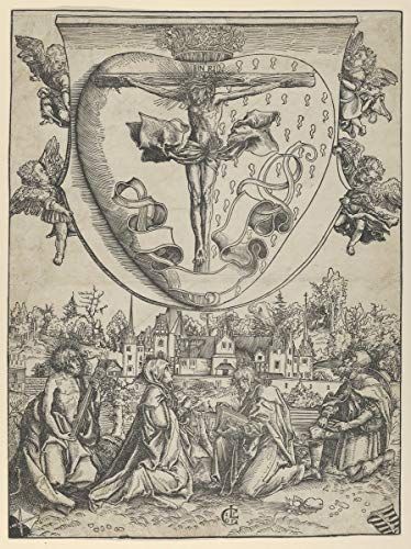 Lucas Cranach The Elder Giclee Kunstdruckpapier Kunstdruck Kunstwerke Gemälde Reproduktion Poster Drucken(Vier Heilige, die Christus verehren, der auf dem heiligen Herzen gekreuzigt wurde) #XZZ