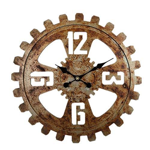 LUOYLYM Reloj De Pared De Engranaje Maquinaria De Viento Industrial Antigua Barra De Bar Suave Creativa Reloj De Pared Decoración De Pared