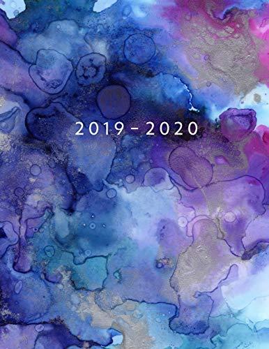 Agenda MAYO 2019 - ABRIL 2020: Vista Semanal con Horario | 1 Semana en 2 Páginas | 12 Meses Planificador y Calendario | 21.59x27.94 cm | 8.5'x11' | Acuarela