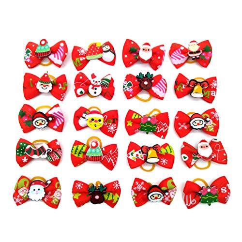 Balacoo 30 diademas elásticas para el pelo de Navidad para perros y gatos