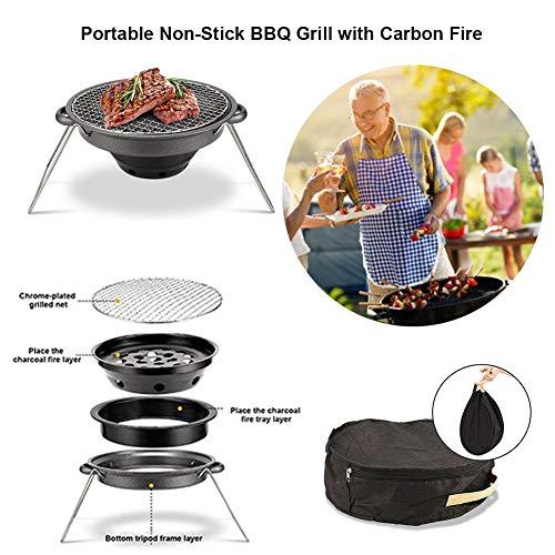 51OH2diuykL. SL500  - Außen Flat Top Gasgrill Set Tragbare und Non-Stick Barbecue-Ofen Backblech for den Außeneinsatz New Grill Zubehör Rückfett (Color : Black)
