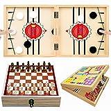 Bileumec Fast Sling Puck Game, Juego de ajedrez, Juego de ajedrez Volador, 3 en 1, Tablero de Juego de tirachinas, 6, 7, 8, 9, 10 años, niños, niñas, Regalos para Adolescentes, Regalos de cumpleaños