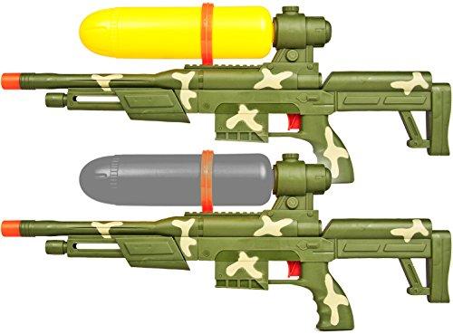Nick and Ben Wasser-Pistole Wasser-Gewehr Wasser-Boomber Pool-Kanone Water-Gun Spielzeug-Waffe Doppelpack Army Forces 60cm Fun