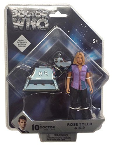 Underground Toys Doctor Who 5.0 Rose & K9 Action Figure Set (2 Pack) by Underground Toys