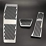 QREAEDZ Car Styling Accesorios/Ajuste for B-MW F30 F31 316i 320i 328i 335i 318D F20 F21 Nuevos 1 Serie 3 Acelerador Cojines del Pedal de Freno de reposapiés (Color Name : No Drill for AT 3pcs)