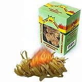 Exxens Allume-feu écologique à spirale 24 pièces Allume-feu naturel en bois et cire naturelle pour cheminée et barbecue, idéal pour allumer du charbon, du bois, du bûche