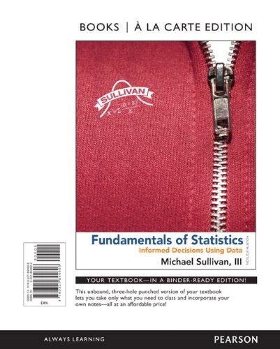 Fundamentals of Statistics, Books a la Carte Edition (4th Edition) - Standalone book