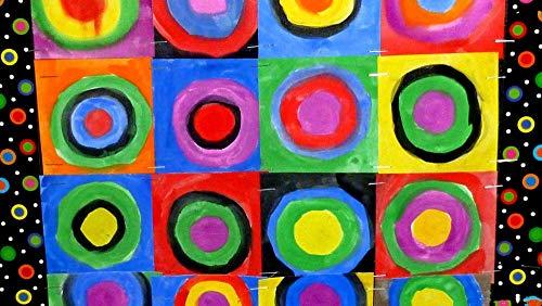 Puzzles para Adultos Puzzle de 500 Piezas   Círculo de Arte Kandinsky Rompecabezas Familiar Descompresión para niños Adultos Adolescentes