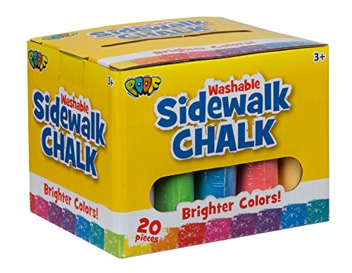 Tiza para la acera Jumbo Slinky, 20 Unidades