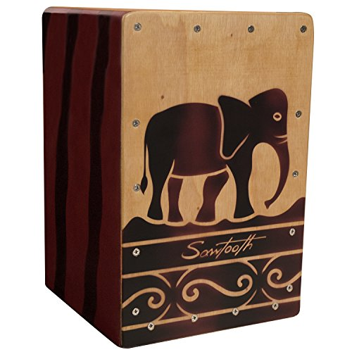 Sawtooth Harmony Series Hand Stained Elephant Design Travel Size Cajon review