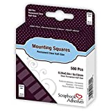 Scrapbook Adhesives by 3L Scrapbook Adhesives Mounting Squares, 500 pcs (0.24X 0.5 inch) Clear