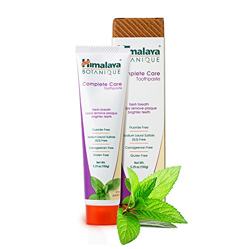 Himalaya Botanique Toothpaste - Natürliche Zahnpasta ohne Fluorid, SLS, Gluten & Carrageenan - Entfernt Plaque, Mundgeruch, verhindert Karies und Zahnfleischbluten (Simply SPEARMINT, 1-Pack)