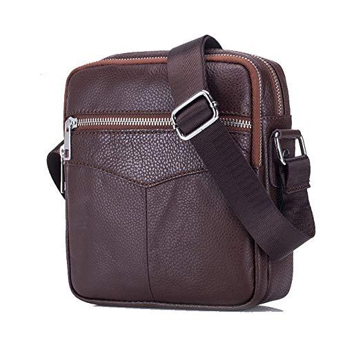 Confortable Messenger Bag Business Casual Handbag Sac à bandoulière en Cuir for Hommes Élégant (Couleur : Marron)