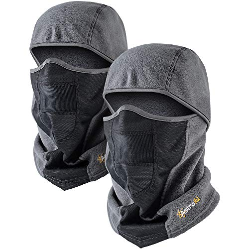 AstroAI Balaclava 2 Pack Ski Mask for Cold Weather Windproof Breathable Face Mask for Men Women...
