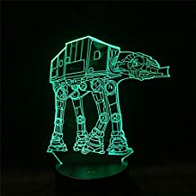 Classic Sci-fi Movie Character Spaceship Kids Gift Star 3D Lámpara de mesa LED Night Light Wars Decoración del hogar BB8 Darth Vader Yoda Knight