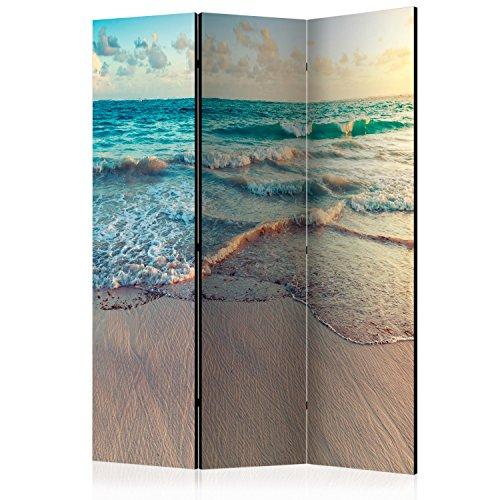 murando Biombo - Playa Mar 135x172 cm de Impresion Unilateral en el Lienzo de TNT de Calidad Decoracion Foto Biombo de Madera con Imagen Impresa Separador Grande Home Office - Paisaje c-B-0358-z-b