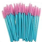 350 aplicador de barra de rímel cepillo de pestañas desechable cepillo de maquillaje de belleza herramienta de extensión de pestañas - azul-rosa