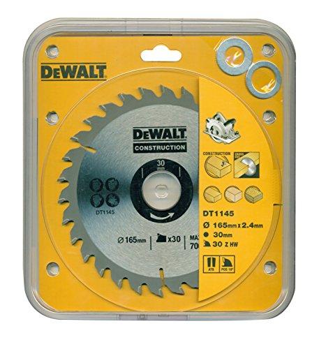 DeWalt DT1145-QZ bouw cirkelzaagblad 165x30x2.4 30WZ 10°