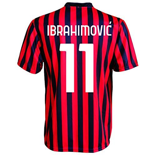 3rsport - Camiseta Milan Zlatan Ibrahimovic 11 réplica autorizada para niño (tallas - Años 2 4 6 8 10 12) Adulto (S M L XL) (6/7 años)
