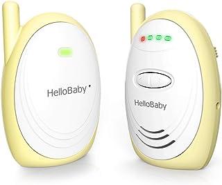 Monitor de bebé de audioHelloBaby HB168 de hasta 300 m con sonido digital HD indicador de nivel de ruido (amarillo)