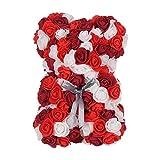rooteroy shihao159 Bouquet de Fleurs en PE 25 cm, Red White