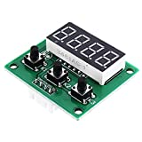 Four Digital Tube LED Display Module TM1650 with Button Scanning Module 4-Wire Driver I2C Protocol 5pcs Electronics Module Parts