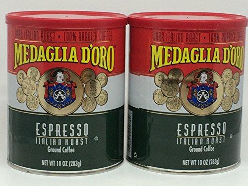 Medaglia DOro Italian Roast Espresso Coffee, 10 Ounce (Pack of 2)