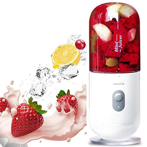 YMJJ Botella exprimidora eléctrica USB, Taza mezcladora automática de Hielo de Frutas, Mini licuadora portátil de Viaje Recargable - 350 ml para Viajes