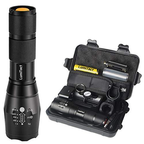 DEL tactique lampe de poche 2 Pack Super Bright Portable Light Flood DEL L1100