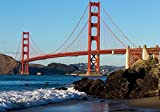 wandmotiv24 Fototapete Golden Gate Bridge USA Amerika L 300 x 210 cm - 6 Teile Fototapeten,...