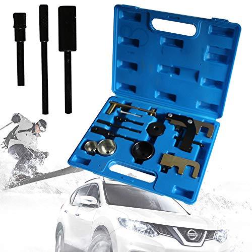 YUNRUX Motoreinstell Werkzeug Arretierwerkzeug Zahnriemen Werkzeug Satz Einstellwerkzeug Nockenwellen Steuerkette Werkzeug für Opel Renault KSB