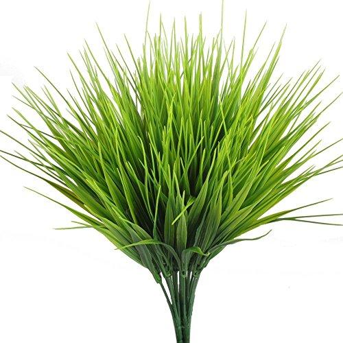 TOOGOO Plantas artificiales al aire libre, 4 piezas Falsos arbustos de plantas...