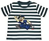 HARIZ Baby T-Shirt Streifen Polizist Handschellen Rennen Polizei Cops Plus Geschenkkarte Navy Blau/Washed Weiß 18-24 Monate