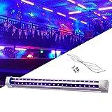 Lámpara UV LED negra, 10 W, luz negra UV para fiestas de DJ, clubes, Halloween, efecto de luz ideal y atmósfera agradable.