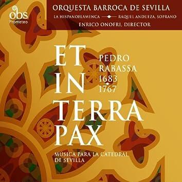 Pedro Rabassa (1683-1767): Et in terra pax. Música para la Catedral de Sevilla