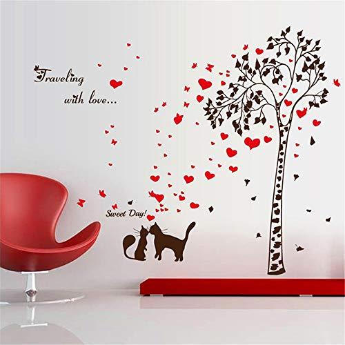 Noir Fhuuly La Mode /À la chinoise Jour rouge Stickers Muraux Amovibles Famille Autocollant Home Art Mural D/écor /à La Maison