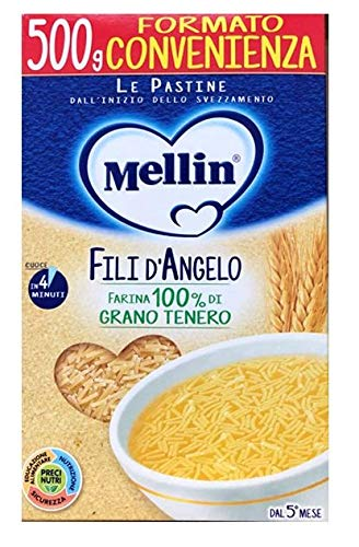 Mellin Le Pastine Fili D'Angelo per Bambini, 4 Mesi