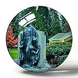 Hqiyaols Souvenir USA America Vancouver Esther Short Park imán de Nevera 3D Colección de Recuerdos Regalo de Viaje Círculo Cristal Imanes de Nevera